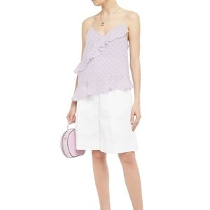DVF NWT Lavender Ruffled Georgette Camisole